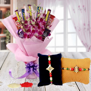 Buy Silky Sweet Rakhi Gift