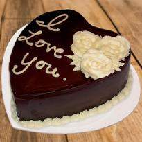 Heartfelt Chocolate cake