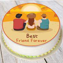 Dashing cake for dashing friend