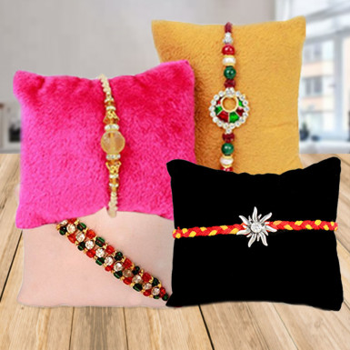Buy Set of 4 Rakhi