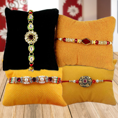 Buy Set of 4 Pretty Rakhi