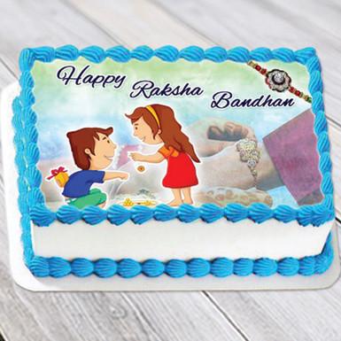 Buy Photo Cake for Rakhi