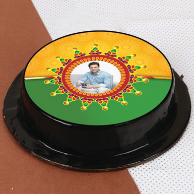Buy Adorable Rakhi Photo Chocolate Cake