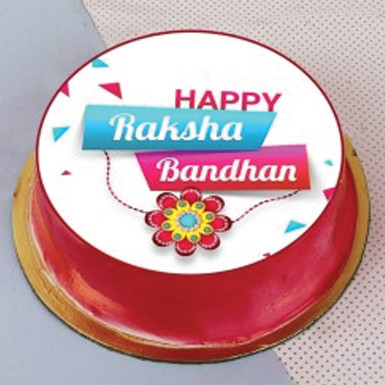 Buy Black forest Rakhi Photo Cake