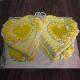 Buy Special couple pineapple double heart shape cake
