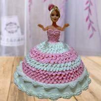 Vanilla Barbie Doll Cake