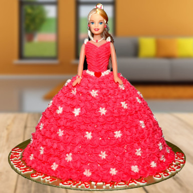 Buy Black Forest Barbie Doll Cake