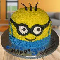 Rock with Minion Cake