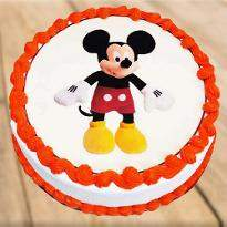 Mickey Mouse Vanilla Photo Cake