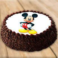 Mickey Mouse Blackforest Cake