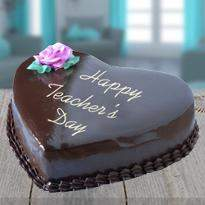 Heart Shape Chocolate Cake for Teacher