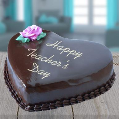 Buy Heart Shape Chocolate Cake for Teacher