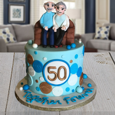 Buy Fondant Cake for Grandparents