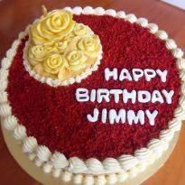 Happy Birthday Red Velvet Cake