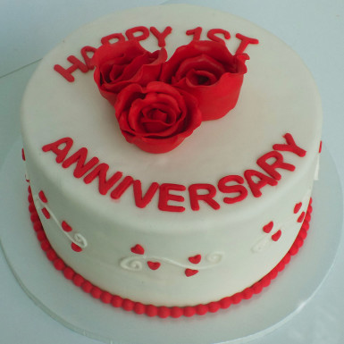 Buy Happy Anniversary Fondant Cake