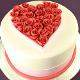 Buy Elegant Anniversary Fondant Cake