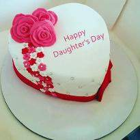 Heart Shape Daughters Day Cake