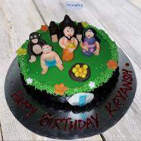 Kids party time cake