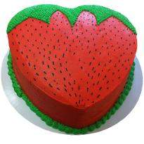 Strawberry Shape Cake