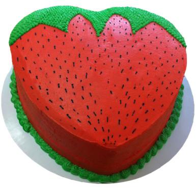 Buy Strawberry Shape Cake
