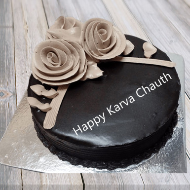 Buy KarvaChauth Chocolate Cake