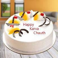 Vanilla Karwachauth Cake