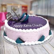 Blueberry Karwachauth Cake