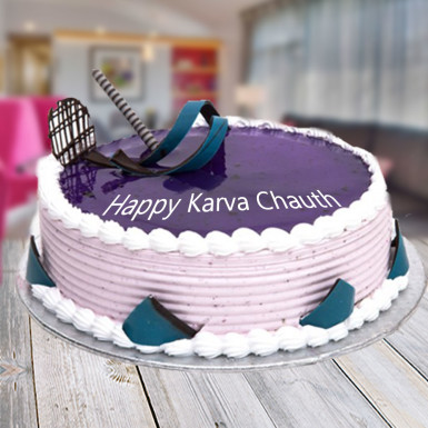 Buy Blueberry Karwachauth Cake