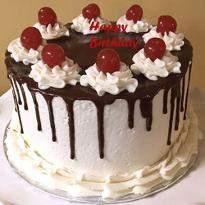 Choco Vanilla Birthday Cake