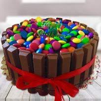 Delightful Kitkat Gems Cake