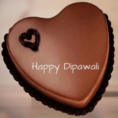 Buy Heart Shape Chocolate Diwali Cake