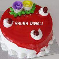 Strawberry Diwali Cake
