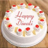 Pineapple Diwali Cake