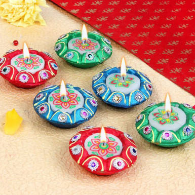 Buy Set of 6 Diya