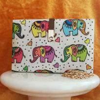 Elephant Print Clutch