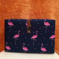 Flamingo Printed Clutch