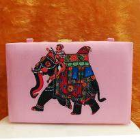 Shimmering Jaipuri Printed Clutch