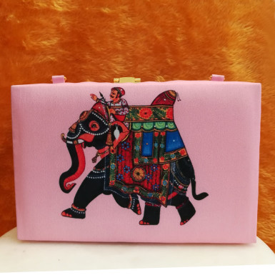 Buy Shimmering Jaipuri Printed Clutch
