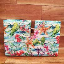 Aquatic Print Clutch