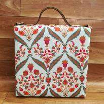 Classic Floral Print Handbag