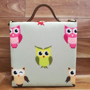 Buy Cute Owl Print Handbag