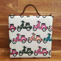 Scooter Print Handbag