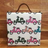 Scooter Print Handbag