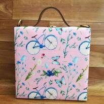 Cycle Printed Handbag