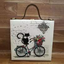 Cat Print Handbag