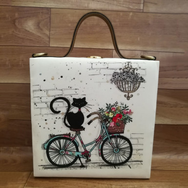Buy Cat Print Handbag