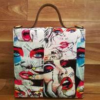 Magazine Print Handbag
