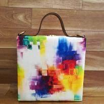 Mosaic Print Handbag