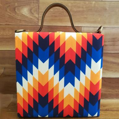 Buy MultiZigzag Print Handbag