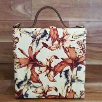 Lilies Print Handbag
